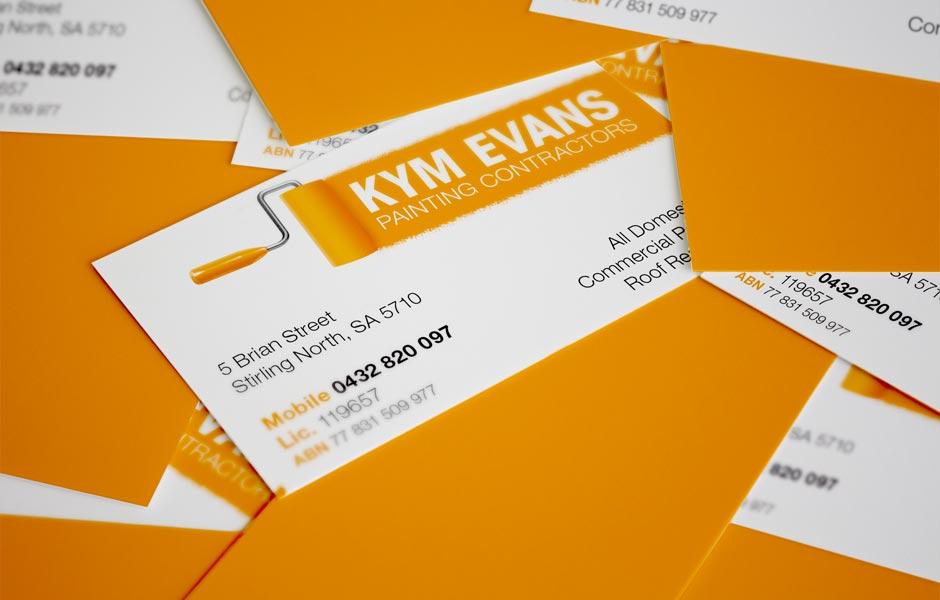 Kym Evans Painting Contractors Business Card